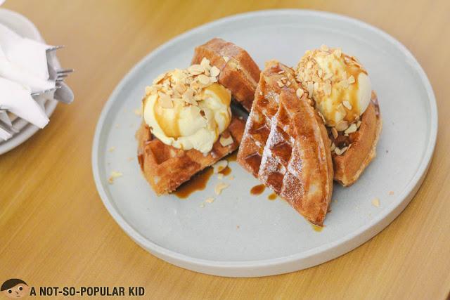 Salted Caramel Waffle of Yardstick Cafe