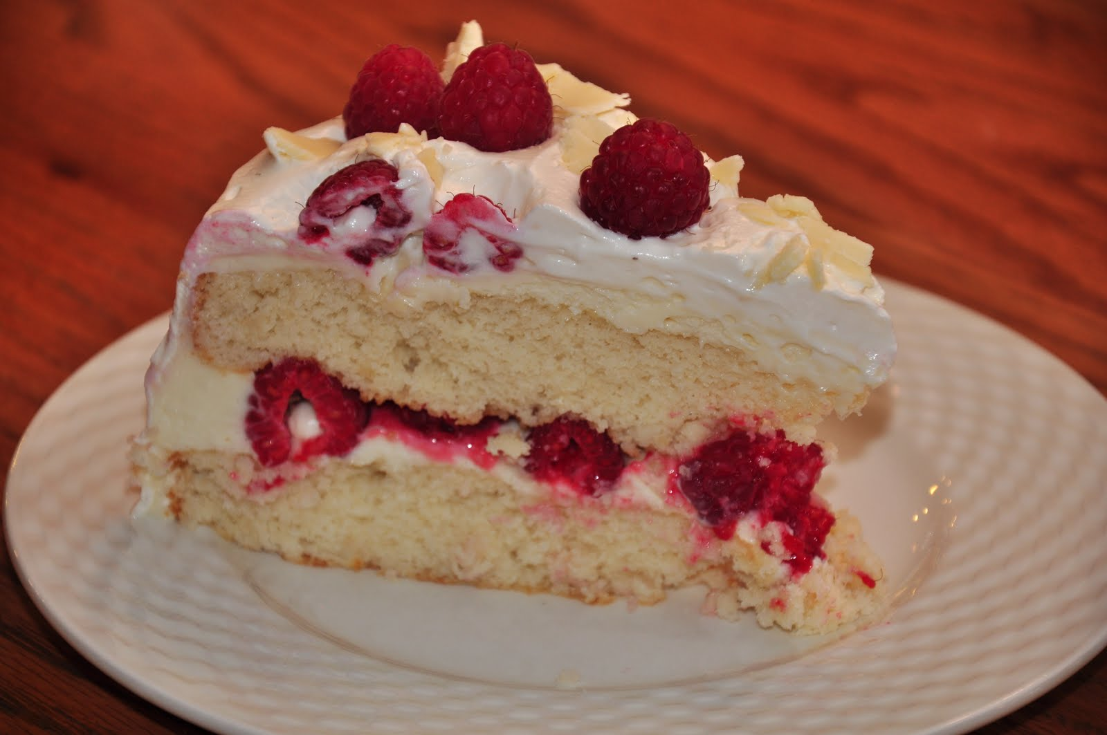 The Changeable Table White Chocolate Raspberry Cake