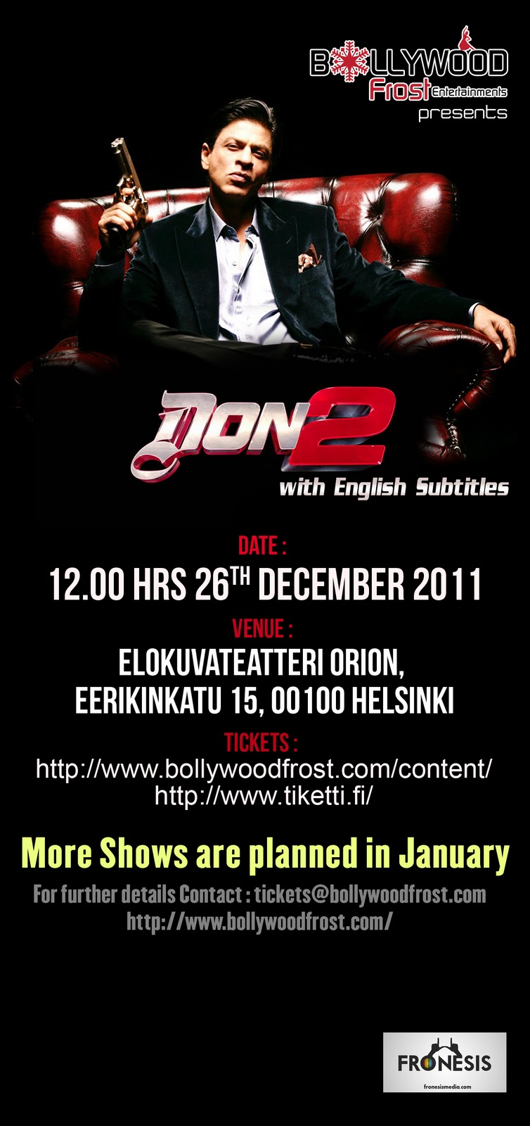 Bollywood: Get your tickets to the Bollywood film Don 2 now!