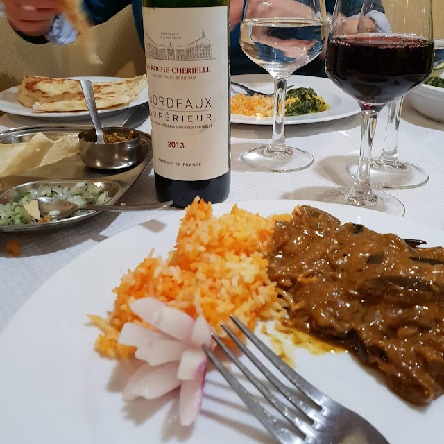 Indian food with Bordeaux wine
