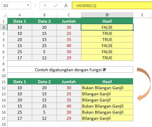 Cara Menggunakan Fungsi ISODD di Excel