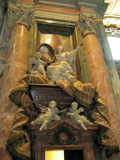 The monumental tomb of Maria Clementina Sobieski in St Peter's Basilica
