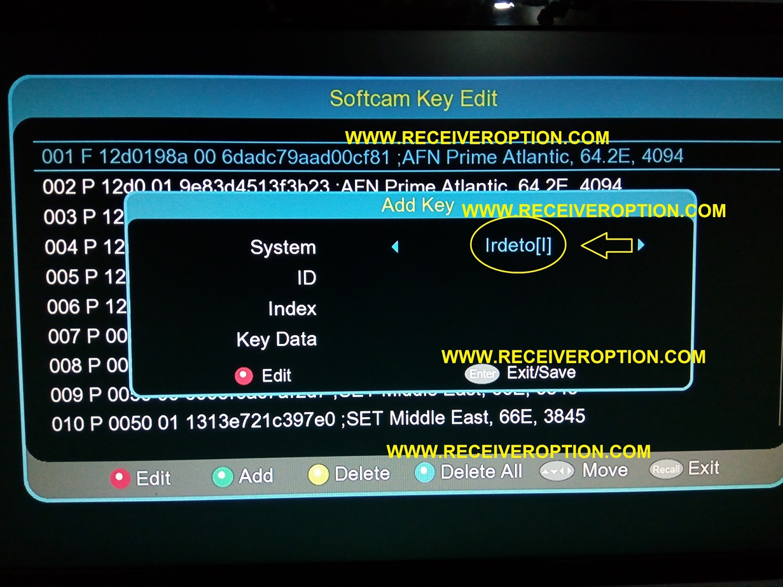 NEOSAT NS-560D HD RECEIVER POWERVU KEY OPTION - HOW TO ENTER