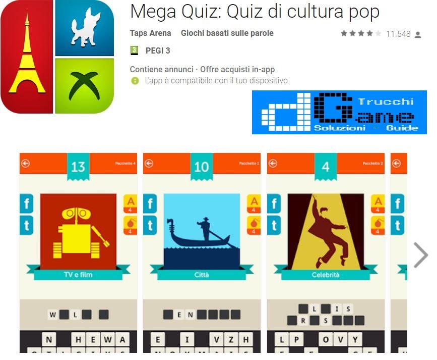 Soluzioni Mega Quiz: Quiz di cultura pop
