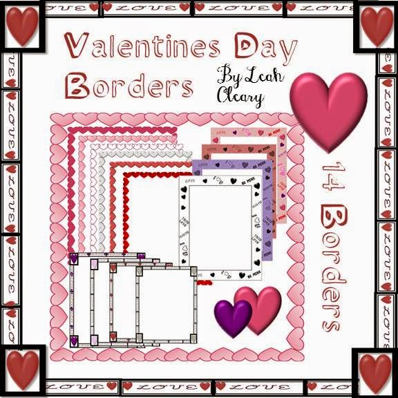 Valentine's Day Borders