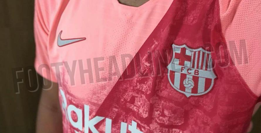 brand new 22a08 f60ed NEW Pictures: Nike FC Barcelona 18-19 Third Kit Leaked ...