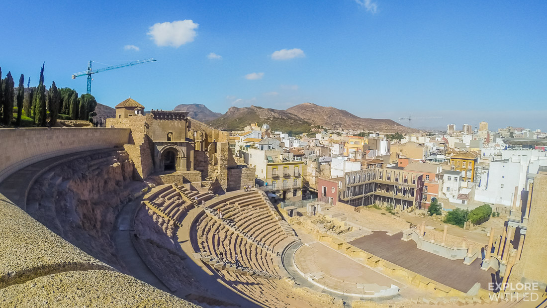 Roman Amphitheatre in Cartagena Spain