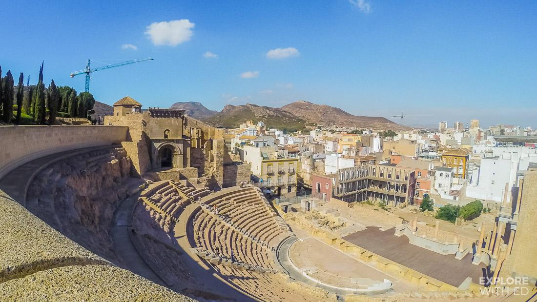 Roman Amphitheatre in Cartagena Spain