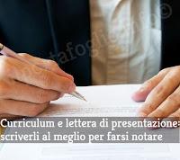 come scrivere un buon curriculum e una lettera di presentazione