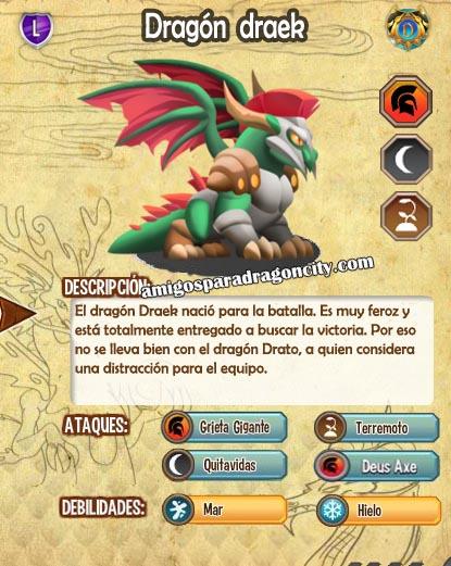 imagen de las caracteristicas del dragon draek