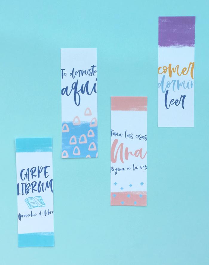 Marcadores de libros y etiquetas imprimibles Sant Jordi Día del Libro gratuitos, manualidades, hazlo tu mismo