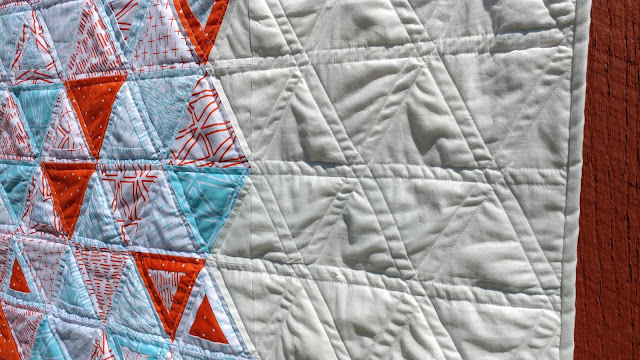 Rough Around the Edges equilateral triangle quilt by Slice of Pi Quilts