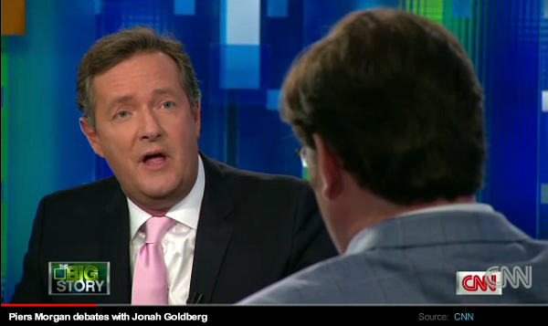 Piers Morgan with Jonah Goldberg