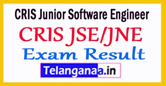 CRIS JSE/JNE Online Exam Result 2018