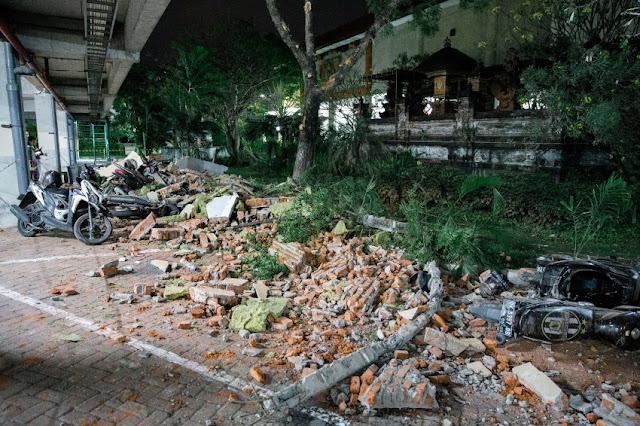 Землетрясение в Индонезии 5 августа 2018