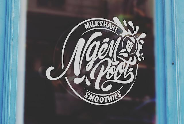 logo design for NGEMPOOY MILKSHAKE