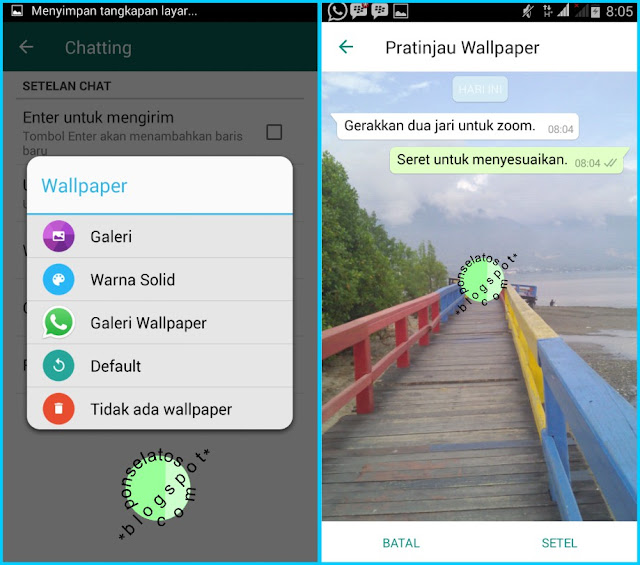 Cara Mengganti Background Chat WhatsApp, mengganti wallpaper whatsapp,