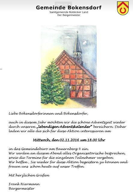 Lebendiger Advendskalener Bokensdorf