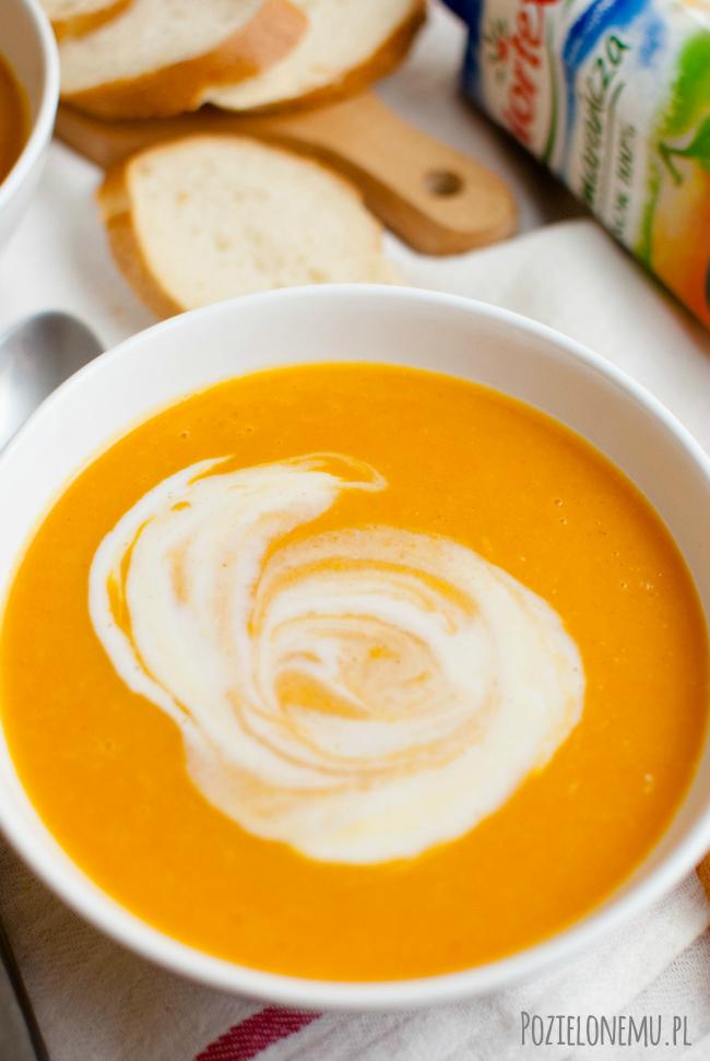 Krem z batatów z sokiem pomarańczowym