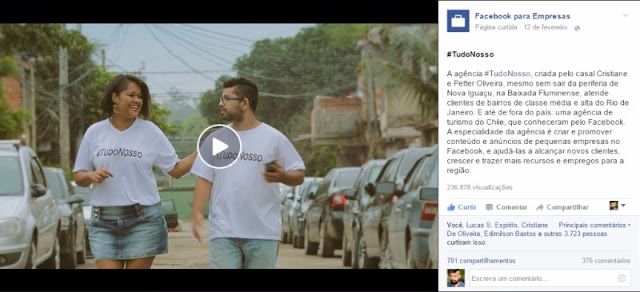 Agência #TudoNosso é destaque em especial do Facebook