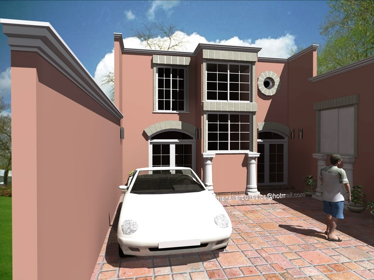 Proyectos virtuales dise o de casa habitaci n en 3d arq for Diseno de interiores 3d 7 0