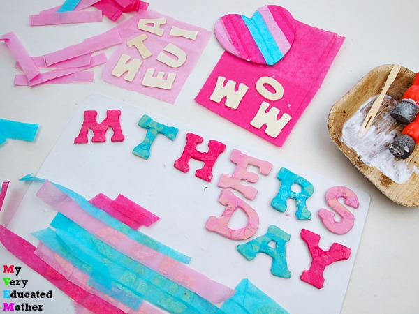 Making Tissue Paper Letters