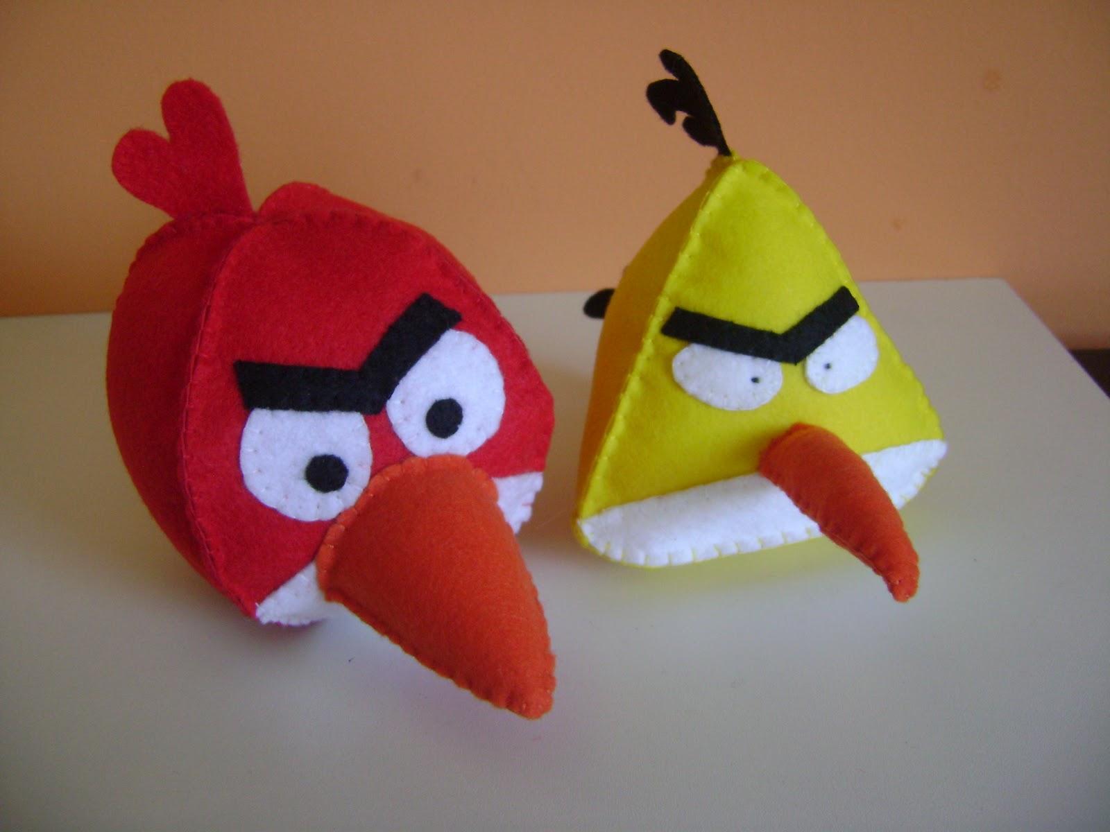 Contos De Pano: Angry Birds De Feltro