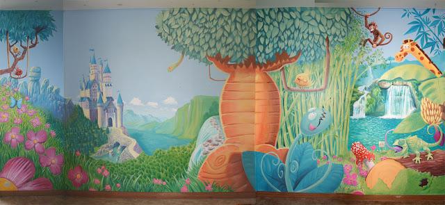 fresque pour une chambre d'enfant sur Caen en normandie