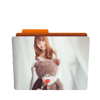 Preview of cute chinese girl, folder icon