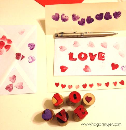 Como hacer sellos con corchos reciclados #DIY