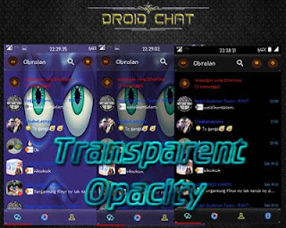Droid Chat Transparan Opacity