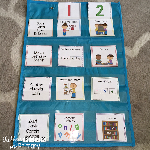Literacy Center Pocket Chart Cards (editable)