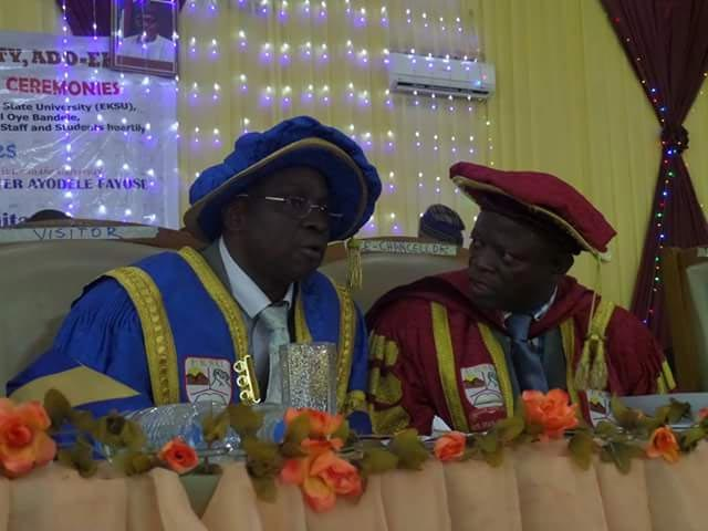 Photos: Fayose, Mimiko, Dickson, others at Ekiti State University 21st convocation today