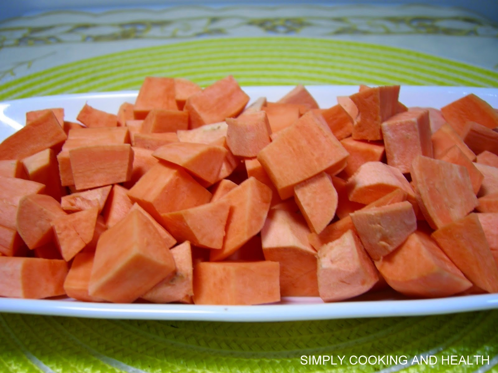 how to store cut sweet potatoes