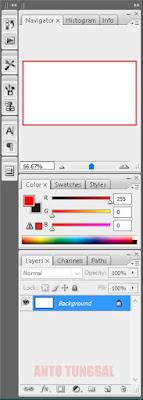 palet pada lembar kerja photoshop