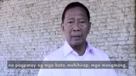 Vice President Jejomar Binay calls attention of the public not to vote rival Mayor Duterte.