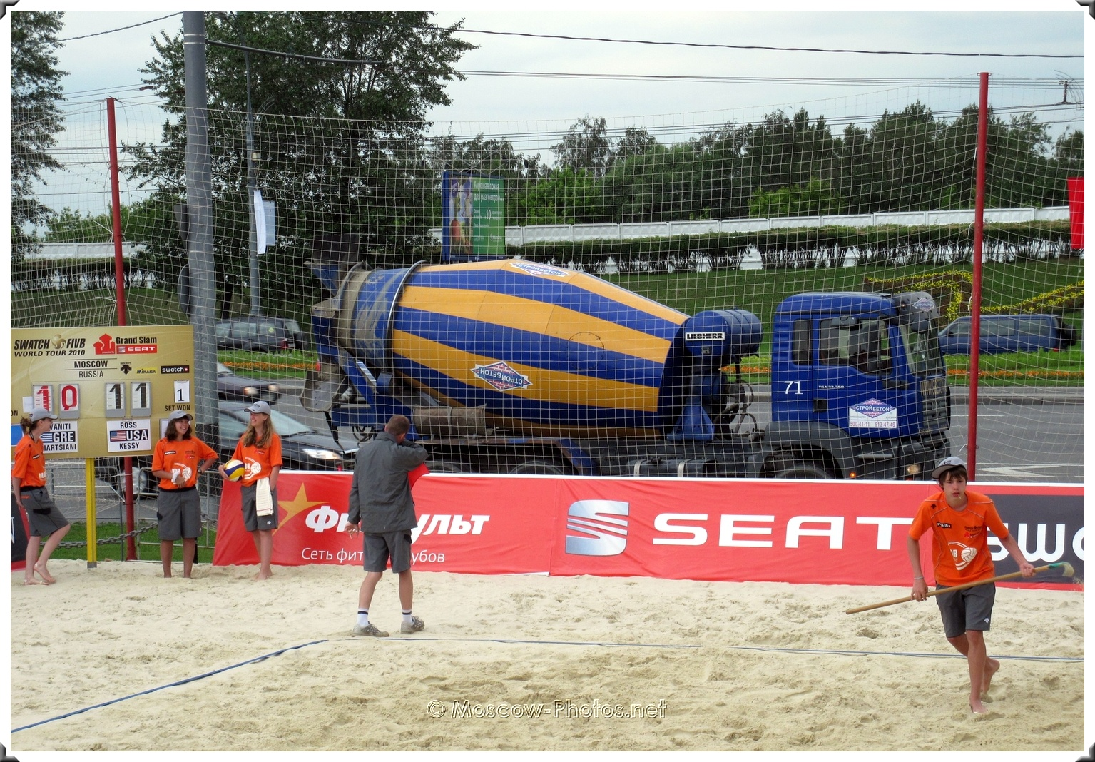 Concrete Mixer at Moscow Beach Volleyball Tour