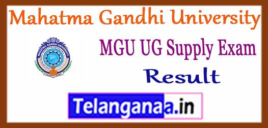 MGU Mahatma Gandhi University Nalgonda UG 1st 2nd 3rd Year Supply Results 2017