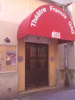 L'entrée du Théâtre Francis Gag, dans le vieux Nice