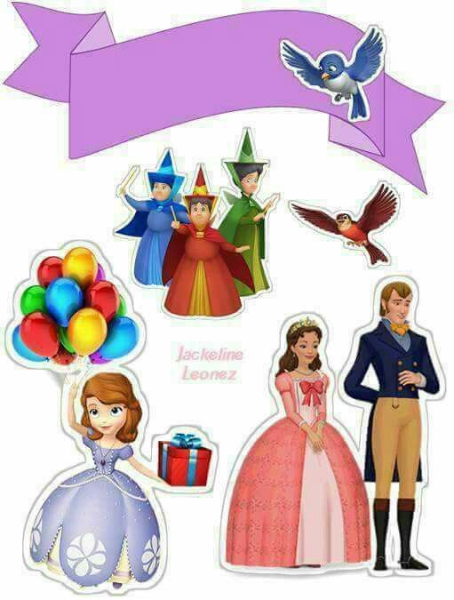 Pleasing Sofia The First Birthday Free Printable Cake Toppers Oh My Personalised Birthday Cards Cominlily Jamesorg