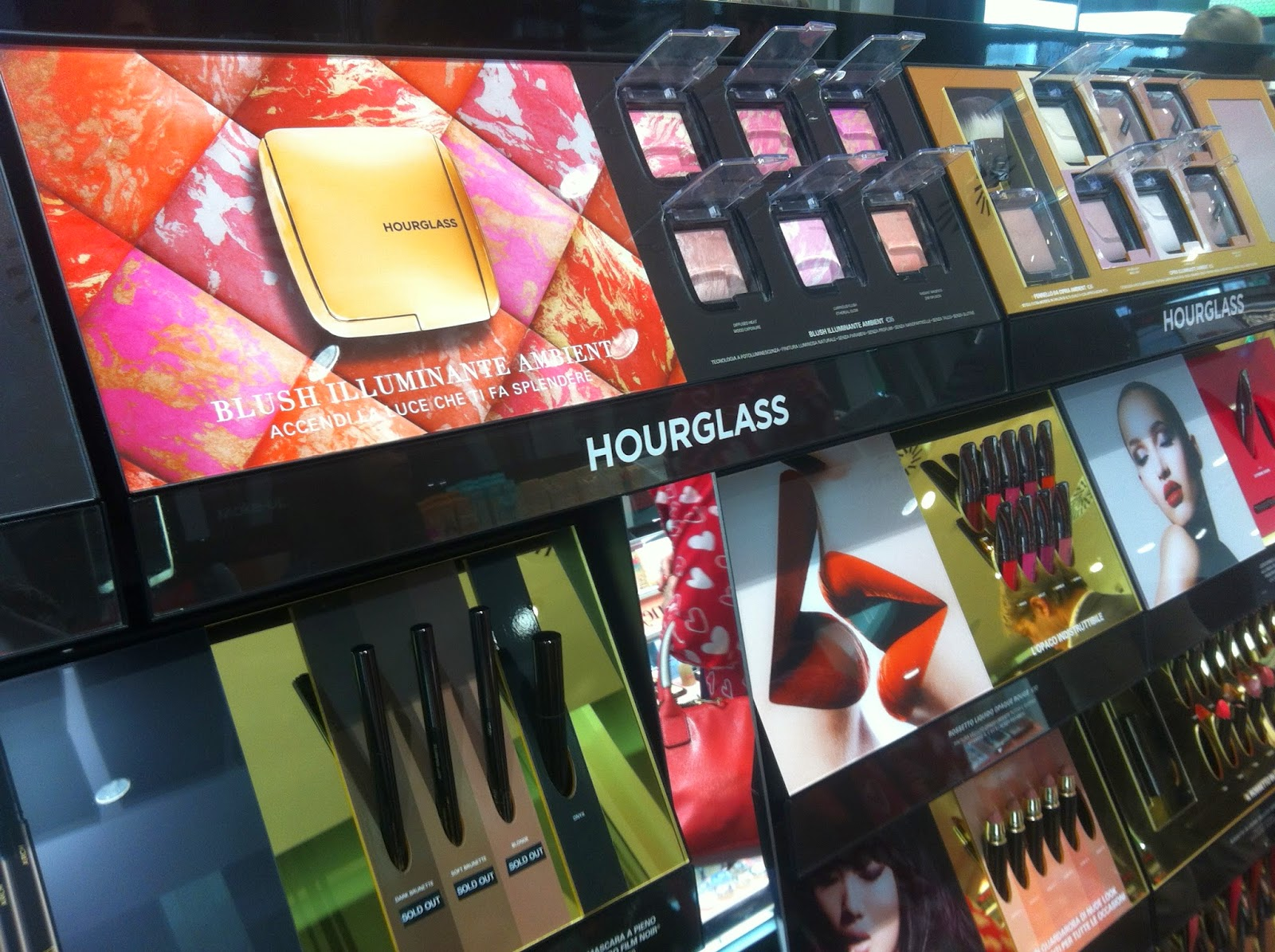 hourglass cosmetics italia sephora milano, ambient lighting blush, brian & barry building sephora
