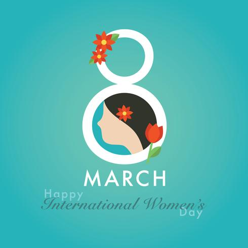 8 March Women's Day design background free vector