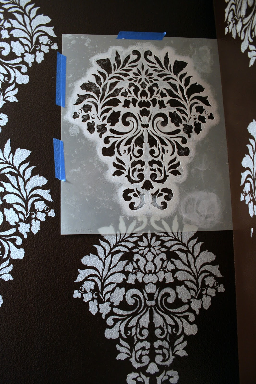 I finally stenciled a wall with this gorgeous pattern in for Paint templates for walls