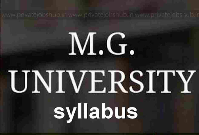 MG University Syllabus 2018
