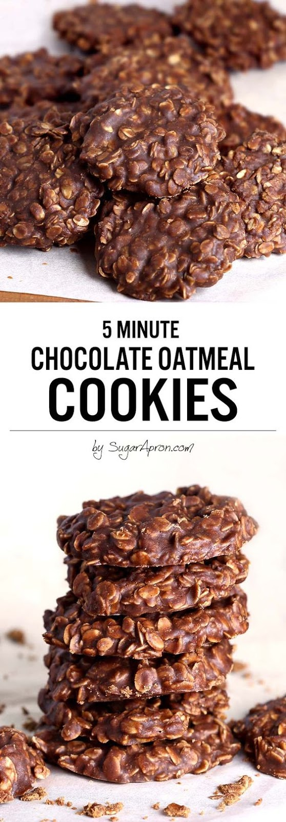 No Bake Chocolate Oatmeal Cookies With Honey