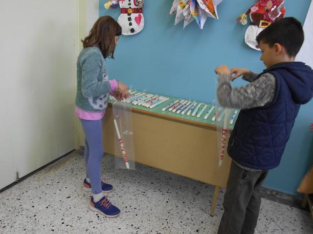 Λαμπάδες από το 6ο Δημοτικό Σχολείο Ναυπλίου στο Ε.Ε.Ε.Ε.Κ Πυργέλας