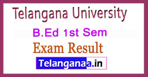 Telangana University B.Ed 1st Sem 2018 Revaluation Results