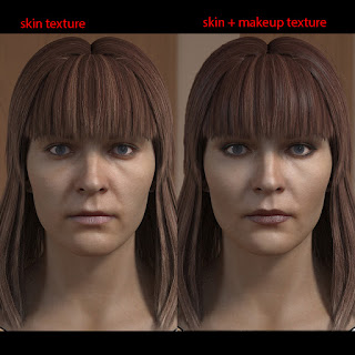 3d model of a woman head female