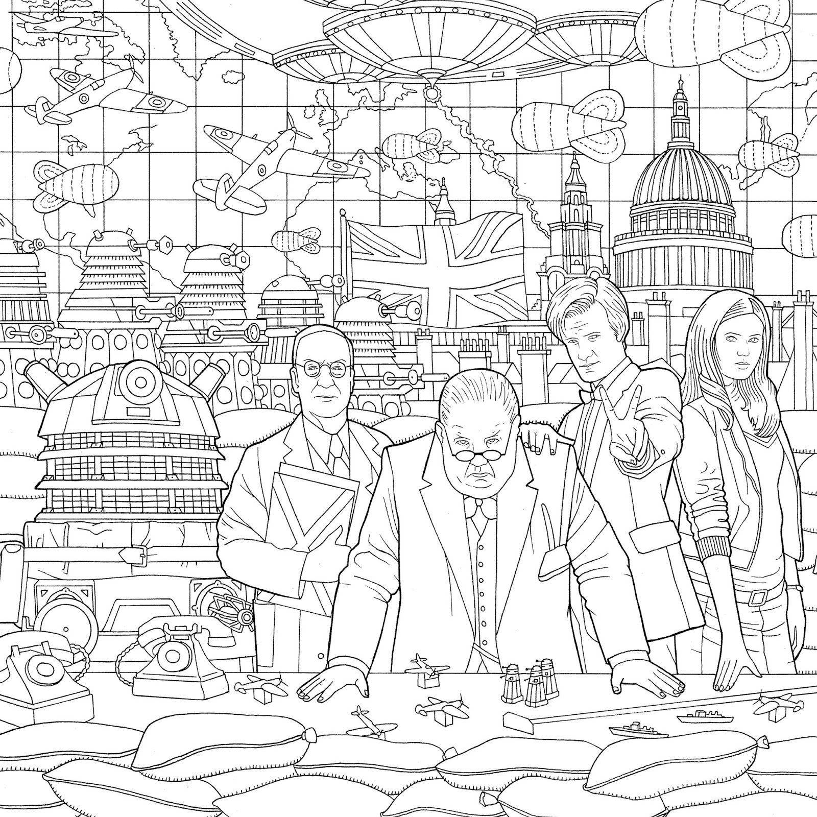 NEW Doctor Who Travels In Time Colouring Book Released
