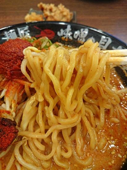 辛味噌らーめんの麺の写真